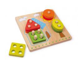Dřevěná motorická hra Small Foot Domek