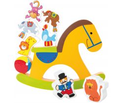 Dřevěná motorická hra Small Foot Koník Cirkus