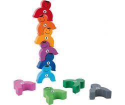 Dřevěná motorická hra siláci s čísly Small Foot