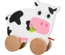 Dřevěná tahací kravička Small Foot
