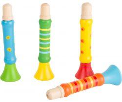 Dřevěná trumpetka Small Foot  1 ks