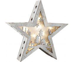 Dřevěná vánoční hvězda se světlem Small Foot Malá