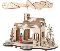 Dřevěná vánoční pyramida Small Foot Advent