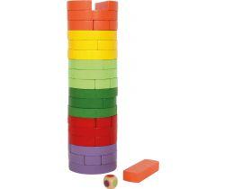 Dřevěná věž barevná Small Foot Wobbling