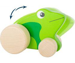 Dřevěná žabka na kolečkách Small Foot