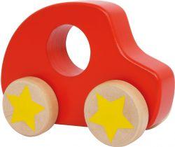 Dřevěné autíčko Small Foot Červené s hvězdou