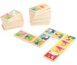 Dřevěné domino Small Foot Ptáčci světa