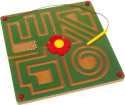 Dřevěné hračky Magnetické bludiště Small Foot Abstrakt