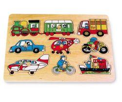 Dřevěné hračky Vkládací skládanka Small Foot Doprava