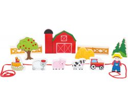 Dřevěné navlékací hrací set Small Foot Farma