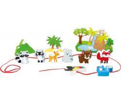 Dřevěné navlékací hrací set Small Foot Safari