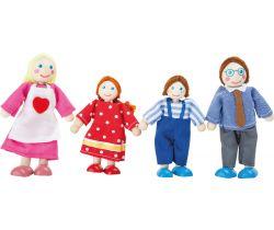 Dřevěné ohybatelné panenky Small Foot Rodina