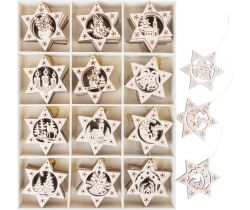 Dřevěné ozdoby 120 ks Small Foot Hvězdy