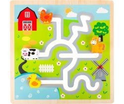 Dřevěné posuvné puzzle Small Foot Farma