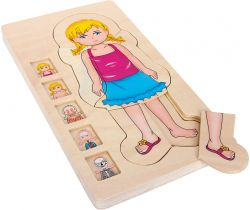 Dřevěné puzzle Small Foot Anatomie