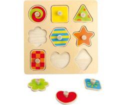 Dřevěné puzzle Small Foot Barevné tvary