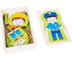Dřevěné puzzle Small Foot Chlapecký sen Povolání