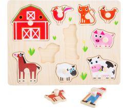 Dřevěné puzzle Small Foot Farma