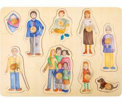Dřevěné puzzle Small Foot Rodina