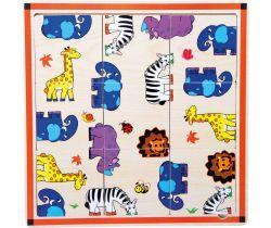 Dřevěné puzzle 9 dílků Small Foot Safari