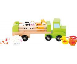 Dřevěné tahací nákladní auto se zvířátky Small Foot
