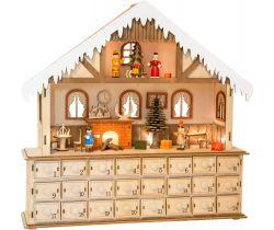 Dřevěný adventní kalendář Small Foot Kouzelný vánoční dům