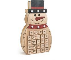Dřevěný adventní kalendář Small Foot Sněhulák
