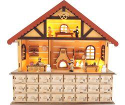 Dřevěný adventní kalendář Small Foot Vánoční pekárna