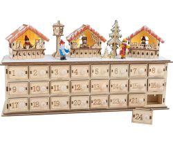 Dřevěný adventní kalendář Small Foot Vánoční trhy