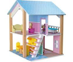 Dřevěný domeček pro panenky Small Foot Modrá střecha