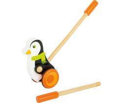 Dřevěný jezdík Small Foot Tučňák s šálou