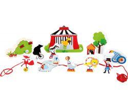 Dřevěný navlékací hrací set Small Foot Cirkus