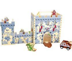 Dřevěný rytířský hrad v kufru Small Foot