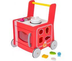 Dřevěný vozíček kuchyňka Small Foot Červená