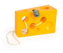 Hra na provlékání Small Foot Sýr s myší Žlutá verze