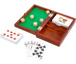 Hrací kostky a karty v dřevěném boxu Small Foot
