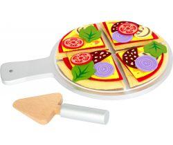 Látková pizza se servírovacím talířem Small Foot