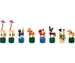 Mačkací figurky 8 ks Small Foot Zvířátka