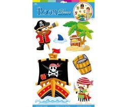 Samolepící dekorace na zeď piráti Small Foot