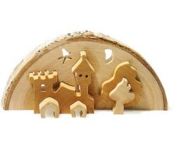 Vánoční dekorace Small Foot  3D Zámek včetně čajové svíčky