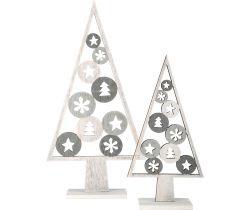 Vánoční dekorace Small Foot  Stromeček světlý 2 ks