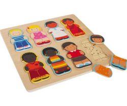 Vkládací puzzle Small Foot Děti tohoto světa