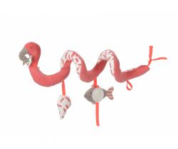 Spirálka do kočárku Kikadu Flamingo