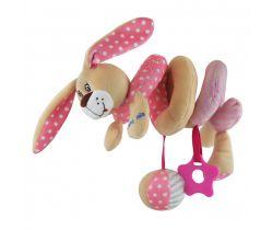Spirálka do postýlky BabyMix Pink Rabbit