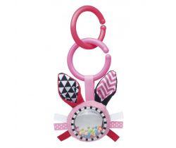 Šustící plyšová hračka s chrastítkem Canpol Zig Zag Králík