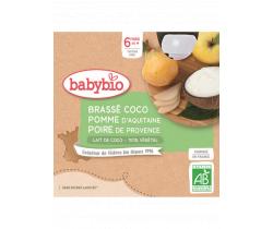 Svačinka s kokosovým mlékem - jablko a hruška 4x85g Babybio