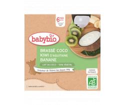 Svačinka s kokosovým mlékem - kiwi a banán 4x85g Babybio