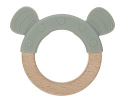 Kousátko Lässig Teether Ring Wood/Silicone Little Chums
