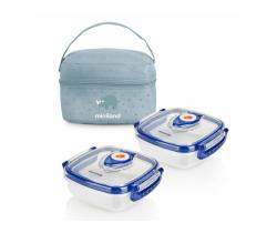 Termoizolační pouzdro + 2 hermetické misky na jídlo Miniland Baby