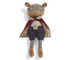 Textilní hračka Mamas & Papas Medvídek Superhero Pow